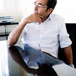 Portrait of Laurent Storch, new TF1's program director in office of TF1 tower, Paris / Boulogne-Billancourt (assignment for Le Monde)..september 10, 2008..photo: Antoine Doyen