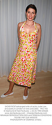SADIE FROST estranged wife of actor Jude Law, at a party in London on 3rd June 2003.PKC 183