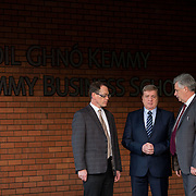 20.01.17<br /> Minister of State for Employment and Small Business, Deputy Pat Breen addressed a seminar for SMEs on The Role of Education in Supporting Small Business at University of Limerick.<br /> <br /> Pictured at the event were, Prof. Edmond Magner, Dean of Science and Engineering UL, Minister of State for Employment and Small Business, Deputy Pat Breen and Dr. Phillip O'Regan, Dean Kemmy Business School, UL.<br /> <br />  Jointly hosted by the Kemmy Business school and the faculty of Science and Engineering, the event brought together small and medium enterprises along with representative bodies, Local Enterprise Offices, Chambers of Commerce, Irish Small and Medium Enterprises association (ISME), Enterprise Ireland and the IDA. The aim of the event was to stimulate greater collaboration between third level institutes and SMEs in relation to research, education and business advice. To date, University of Limerick and Limerick Institute of Technology have supported a number of start-ups through the Nexus Innovation Centre and LIT's Enterprise Centres while academic staff have provided expert advice to local companies. Picture: Alan Place