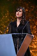 Brussels , 01/02/2020 : Les Magritte du Cinema . The Academie Andre Delvaux and the RTBF, producer and TV channel , present the 10th Ceremony of the Magritte Awards at the Square in Brussels .<br /> Pix: Myriam Leroy , dressed by Max Mara , shoes by Christian Louboutin , jewels by Ole Lynggaard<br /> Credit : Alexis Haulot - Dana Le Lardic - Didier Bauwerarts - Frédéric Sierakowski - Olivier Polet / Isopix