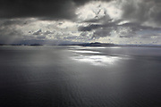 Views across the Minch, the stretch of sea between the Isle of Skye in the inner Hebrides and the islands of Raasay, Rona and the Scottish mainland