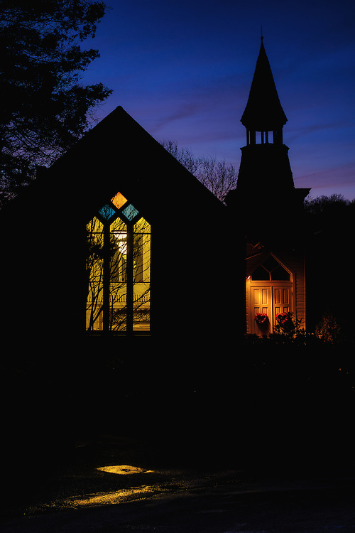Oella Church and Puddle, Oella, Maryland.
