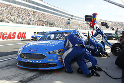 October 7, 2018 - Dover, Delaware, United States of America - Matt Kenseth (6) comes down pit road for service  during the Gander Outdoors 400 at Dover International Speedway in Dover, Delaware. (Credit Image: © Justin R. Noe Asp Inc/ASP via ZUMA Wire)