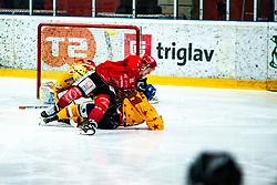 Jaka Sodja during Alps League Ice Hockey match between HDD SIJ Jesenice and Migross Supermercati Asiago Hockey on April 17, 2021 in Ice Arena Podmezakla, Jesenice, Slovenia. Photo by Peter Podobnik / Sportida