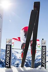 20.02.2015, Schneekristall Zwolfer Weltcupstrecke, Saalbach Hinterglemm, AUT, FIS Weltcup Ski Alpin, Abfahrt, Herren, 2. Training, im Bild Vorläufer im Starthaus // Forerunner in the start house during the second training run for the men's Downhill of the Saalbach FIS Ski Alpine World Cup at the Schneekristall Zwolfer course in Saalbach Hinterglemm, Austria on 2015/02/20. EXPA Pictures © 2015, PhotoCredit: EXPA/ Johann Groder