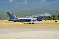 Airbus A310, callsign Canforce 01, landing in Whitehorse, Yukon.