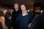 HENRIETTA CONRAD; THE DUKE OF MARLBOROUGH; TOM PARKER BOWLES, Chinese New Year dinner given by Sir David Tang. China Tang. Park Lane. London. 4 February 2013.