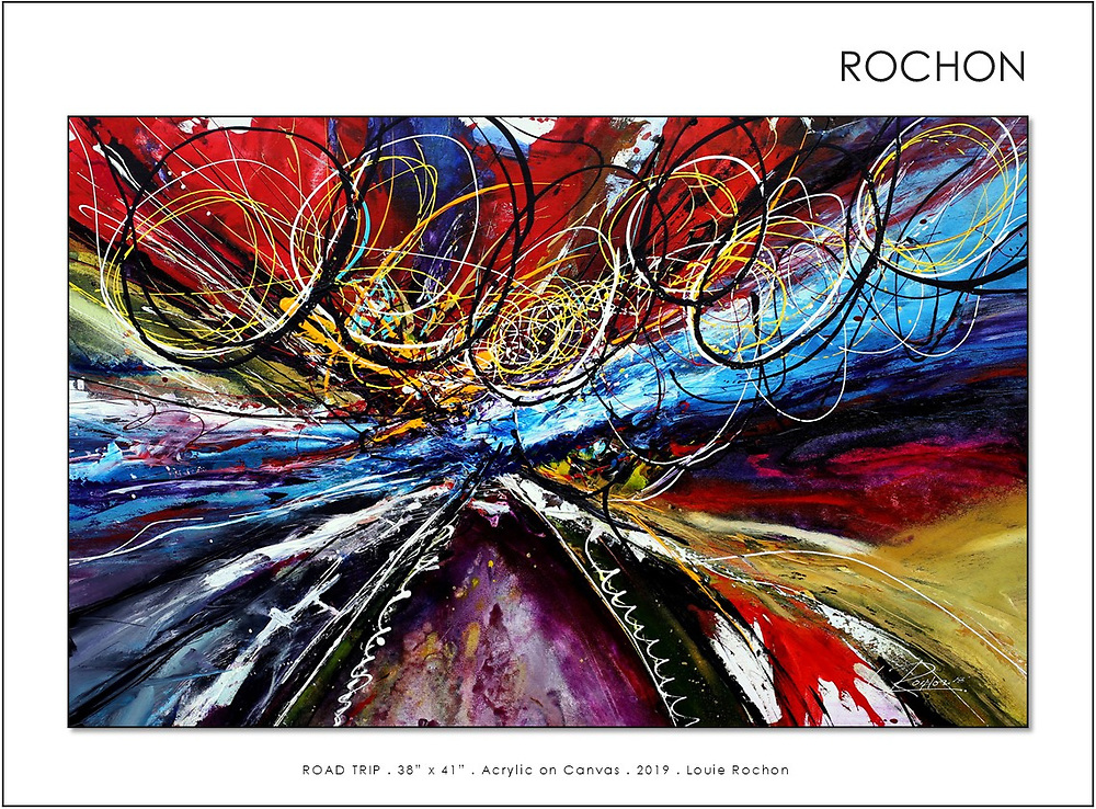 'Road Trip,' WINNER of 2018 Artist Magazines Annual International Art Competition, Abstract, May, 2019 Issue.