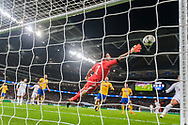 Juventus goalkeeper Gianluigi Buffon makes a save during to the Champions League match between Tottenham Hotspur and Juventus FC at Wembley Stadium, London, England on 7 March 2018. Picture by Toyin Oshodi.
