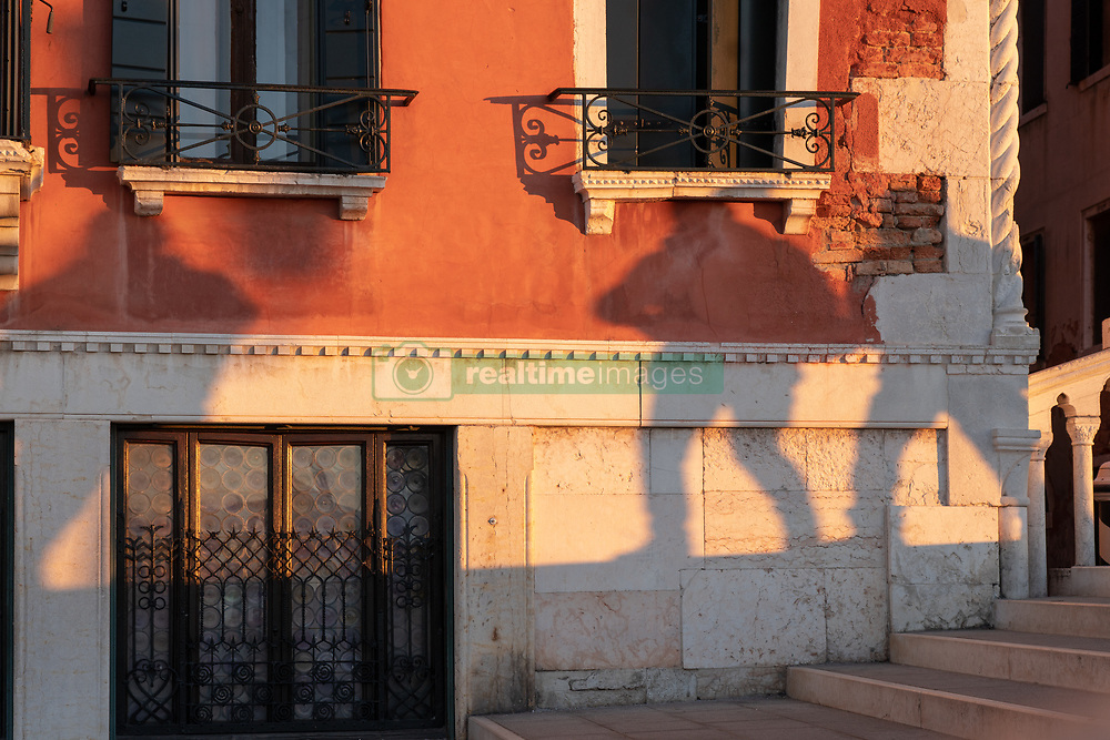 Shadows of passers-by on a bridge in Venice. From a series of travel photos in Italy. Photo date: Tuesday, February 12, 2019. Photo credit should read: Richard Gray/EMPICS