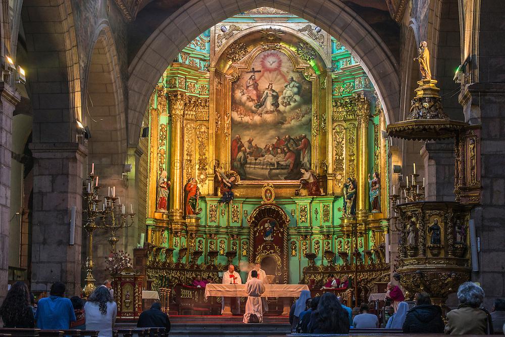 The Cathedral (The Metropolitan Cathedral of Quito)<br /> Plaza de la Independencia<br /> Quito<br /> ECUADOR<br /> South America