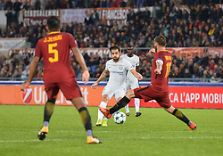 October 31, 2017 - Rome, Italy - Cesc Fabregas and Daniele De Rossi, during the Champions League football match A.S. Roma vs Chelsea Football Club at the Olympic Stadium in Rome, on october 31, 2017. (Credit Image: © Silvia Lore/NurPhoto via ZUMA Press)