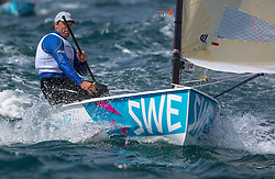 03.08.2012, Bucht von Weymouth, GBR, Olympia 2012, Segeln, im Bild Birgmark Daniel, (SWE, Finn) // during Sailing, at the 2012 Summer Olympics at Bay of Weymouth, United Kingdom on 2012/08/03. EXPA Pictures © 2012, PhotoCredit: EXPA/ Daniel Forster ***** ATTENTION for AUT, CRO, GER, FIN, NOR, NED, POL, SLO and SWE ONLY!
