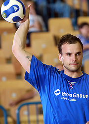 Uros Zorman of Slovenia before  handball game between men national teams of Slovenia and Slovakia, first qualification game for the World Chamionship 2009, on June 7, 2008, in Arena Zlatorog, Celje, Slovenija. Result: 33 : 33. (Photo by Vid Ponikvar / Sportal Images)