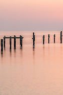 An early morining view from the peir in Swanage in Dorset UK.