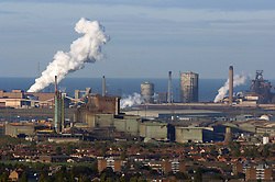 Corus Redcar steelworks and Grangetown; Teesside UK