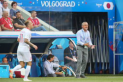 June 28, 2018 - Wolgograd, Russia - Poland's head coach Adam Nawalka directs his players during the 2018 FIFA World Cup Russia group H match between Japan and Poland at Volgograd Arena on June 28, 2018 in Volgograd, Russia. (Credit Image: © Foto Olimpik/NurPhoto via ZUMA Press)