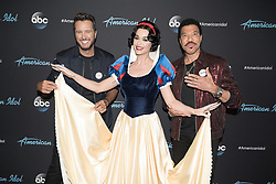 """Katy Perry releases a photo on Twitter with the following caption: """"""""Someday my prince will come✨Today I got Happy and Dopey 😑 And now I'm Sleepy. 😴 See you next week 😘 #AmericanIdol"""""""". Photo Credit: Twitter *** No USA Distribution *** For Editorial Use Only *** Not to be Published in Books or Photo Books ***  Please note: Fees charged by the agency are for the agency's services only, and do not, nor are they intended to, convey to the user any ownership of Copyright or License in the material. The agency does not claim any ownership including but not limited to Copyright or License in the attached material. By publishing this material you expressly agree to indemnify and to hold the agency and its directors, shareholders and employees harmless from any loss, claims, damages, demands, expenses (including legal fees), or any causes of action or allegation against the agency arising out of or connected in any way with publication of the material."""