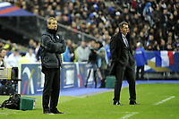 FOOTBALL - INTERNATIONAL FRIENDLY GAMES 2011/2012 - FRANCE v USA - 11/11/2011 - PHOTO JEAN MARIE HERVIO / DPPI - JURGEN  KLINSMANN (COACH USA) / LAURENT BLANC (COACH FRANCE)
