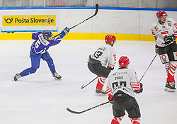 6# Slivnik Luc of HKMK Bled during the final match of Slovenia Cup 2020/21 between HDD SIJ Acroni Jesenice and HKMK Bled, on 19.09.2020 in Ljubljana, Slovenia. Photo by Urban Meglič / Sportida