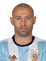 Conmebol - World Cup Fifa Russia 2018 Qualifier / <br /> Argentina National Team - Preview Set - <br /> Javier Mascherano