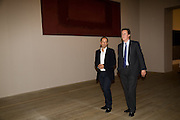 DAVID CAMERON; CURATOR: ACHIM BORCHARDT-HUME,, Mark Rothko private view. Tate Modern. 24 September 2008 *** Local Caption *** -DO NOT ARCHIVE-© Copyright Photograph by Dafydd Jones. 248 Clapham Rd. London SW9 0PZ. Tel 0207 820 0771. www.dafjones.com.