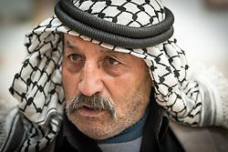 24 February 2020, Jerusalem: Mahmoud Taqatqa is at the Augusta Victoria Hospital, where he accompanies his son Fadi who receives Chemotherapy treatment for Leukemia.