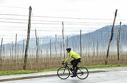 Riders in Radlje ob Dravi during 4th Stage from Prevalje to Dobrovnik, 190 km at Day 4 of DOS 2021 Charity event - Dobrodelno okrog Slovenije, on April 30, 2021, in Slovenia. Photo by Vid Ponikvar / Sportida