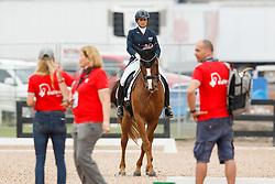 Joannou Antonella, SUI, Dandy de la Roche CMF CH<br /> Tryon - FEI World Equestrian Games™ 2018<br /> Backgroundbilder vom Abreiteplatz<br /> Grand Prix de Dressage Teamwertung und Einzelqualifikation<br /> 13. September 2018<br /> © www.sportfotos-lafrentz.de/Sharon Vandeput