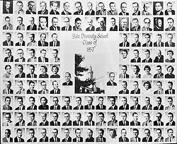 1957 Yale Divinity School Senior Portrait Class Group Photograph