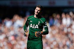 Hugo Lloris of Tottenham Hotspur looks frustrated - Photo mandatory by-line: Rogan Thomson/JMP - 07966 386802 - 16/05/2015 - SPORT - FOOTBALL - London, England - White Hart Lane - Tottenham Hotspur v Hull City - Barclays Premier League.