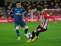 Football - Sky Bet Championship - Brentford vs Norwich City - Brentford Community Stadium<br /> <br /> Max Aarons of Norwich and Mathias Jensen of Brentford <br /> <br /> <br /> COLORSPORT/ANDREW COWIE