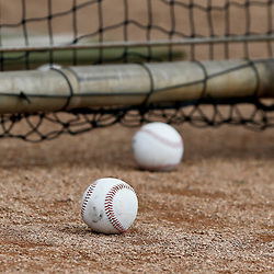 Feb 24, 2013; Dunedin, FL, USA; A detail of baseballs on the field during a spring training game between the Toronto Blue Jays and the Baltimore Orioles at Florida Auto Exchange Park. Mandatory Credit: Derick E. Hingle-USA TODAY Sports