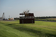 Sign on the south side of Kingfisher.