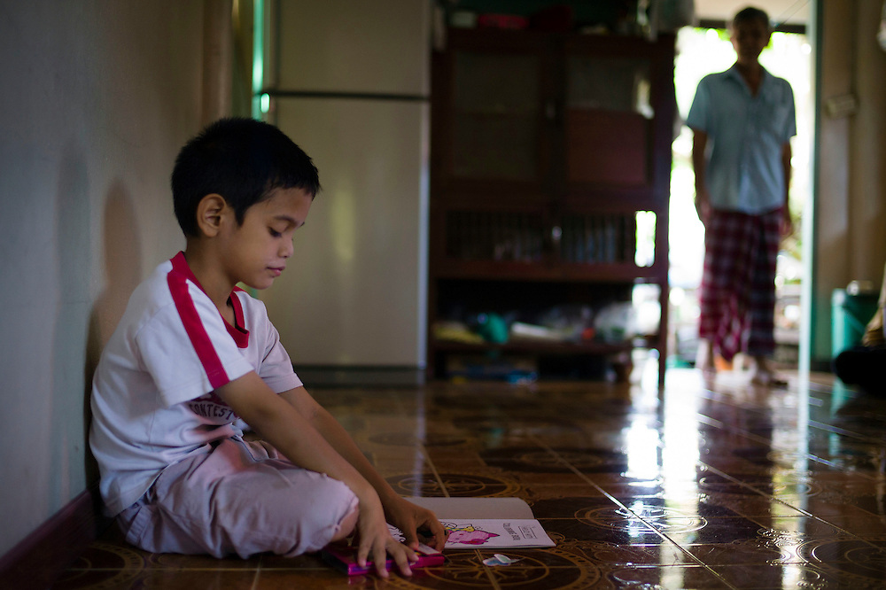 """Kafille is 6 years old. His mother had noticed since he was 3 years old, he already behaved as a little girl, showing signs of being feminine. His older brother, Aekachai, 23, is a ladyboy, and Kafille was definitely influenced by him..As her mother said: """"we can't do anything, he has to follow his heart and has to live his life the way he wants to"""""""