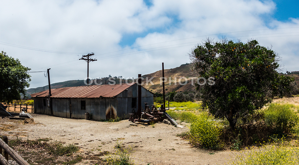 Old Rusted Building At Northwest Open Space In San Juan Capistrano