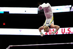 August 18, 2018 - Boston, Massachussetts, U.S - CAMERON BOCK competes on the high bar during the final round of competition held at TD Garden in Boston, Massachusetts. (Credit Image: © Amy Sanderson via ZUMA Wire)