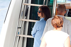 27.09.2011, Prigradica, island Korcula, CRO, The mega popular Hollywood actress Penelope Cruz arrived on the island of Korcula four days ago. She is currently recording her new film 'Venuto al Mondo' and her husband Javier Bardem and her nine-month son, Leon, are with her. After shooting in Sarajevo, she began filming in Korcula. In the movie Penelope Cruz plays a widow who brings her teenage son to Bosnia where his father was killed in the war. The famous family are staying in the luxurious palace Lesic Dimitri located next door to the birth place of Marco Polo. Penelope goes on movie set at island Plocica. EXPA Pictures © 2011, PhotoCredit: EXPA/ nph/ Pixsell +++++ ATTENTION - OUT OF GERMANY/(GER), CROATIA/(CRO), BELGIAN/(BEL) +++++