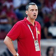 Montenegro's coach Dejan RADONNIC during their Istanbul CUP 2011match played Ukraine between Montenegro at Abdi Ipekci Arena in Istanbul, Turkey on 24 August 2011. Photo by TURKPIX