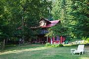Log Cabin, New Denver, Slocan Valley, West Kootenay, British Columbia, Canada