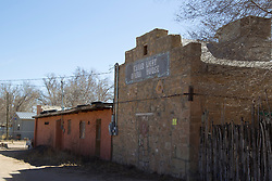 abandoned buildings in Cerrillos, New Mexico
