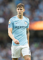 Football - 2018 / 2019 Premier League - Manchester City vs. Newcastle United<br /> <br /> John Stones of Manchester City at The Etihad.<br /> <br /> COLORSPORT