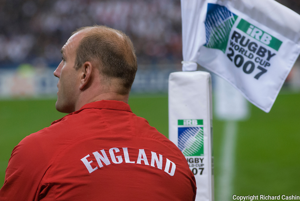 Lawrence Dallaglio before the 2007 Rugby World Cup semifinal between France and England at Stade de France in Paris