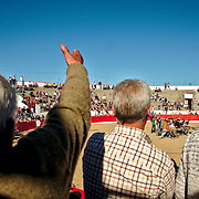 Crowd watching the bullfights