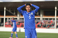 Mohammad Gadir of Israel (6) after missing a chance during the UEFA European Under 17 Championship 2018 match between Israel and Italy at St George's Park National Football Centre, Burton-Upon-Trent, United Kingdom on 10 May 2018. Picture by Mick Haynes.