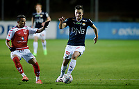 Fotball , 2. februar 2017 , Privatkamp<br /> Strømsgodset - Kalmar 1-1<br /> Stian Ringstad , SIF<br /> Ismael Lima , Kalmar