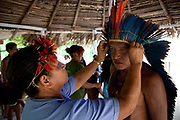 The Juruna still keep a lof of their heritage alive, regularly practicing traditional singing and dancing. A third of Altamira in the state of Para, Brazil will be flooded to make way for the Belo Monte dam, nearly all the people affected are the poorest in society or indigenous communities that will have nowhere to go if they were made homeless, and the Government payoff for their properties is low therefore making it difficult to find new accomodation. At present, the Arara land is protected from development, sale or new residents as it has been their ancestral land for hundreds of years, this is now one of the key areas under threat