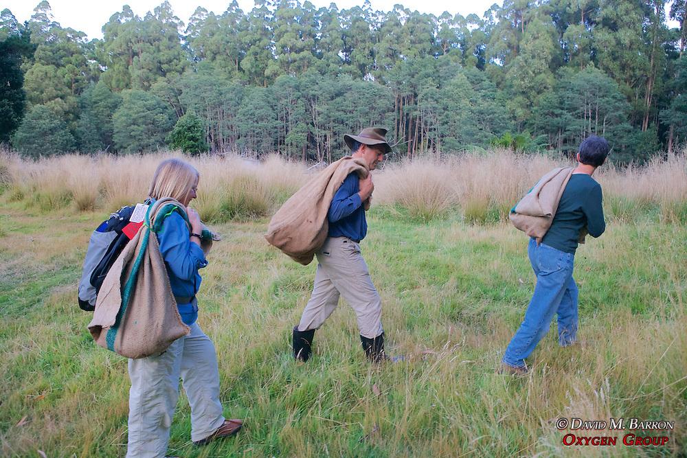 Pat, David & Jean Bringing Possums For Release