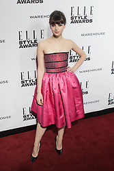 © Licensed to London News Pictures. 18/02/2014. London, UK. Felicity Jones attends the ELLE Style Awards 2014 at One Embankment in central London. Photo credit : Andrea Baldo/LNP
