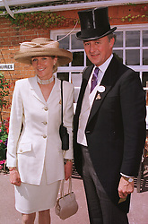 The DUKE & DUCHESS OF ROXBURGHE at Royal Ascot on 15th June 1999.MTG 73